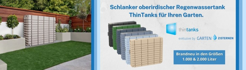 Oberirdischer Regenwassertank ThinTanks - jetzt bestellen