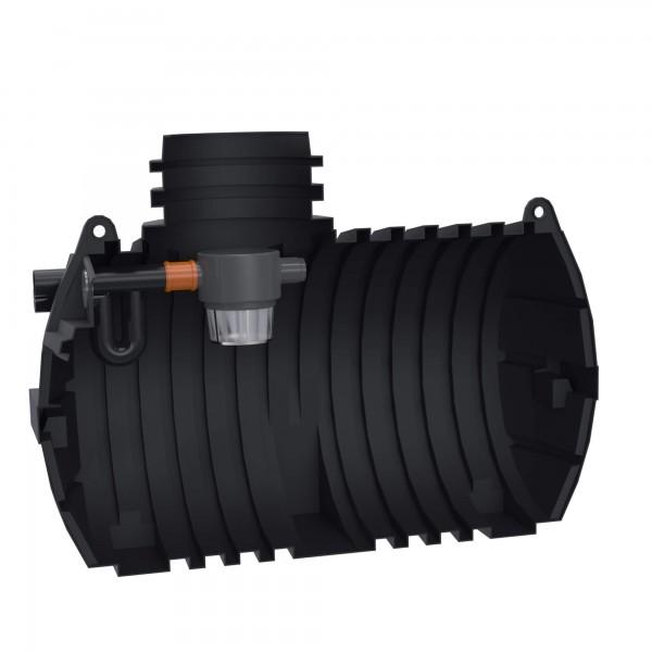 Regenwassertank Eco-Line 3300 L mit vorinstalliertem Gartenfilter und Überlaufsiphon