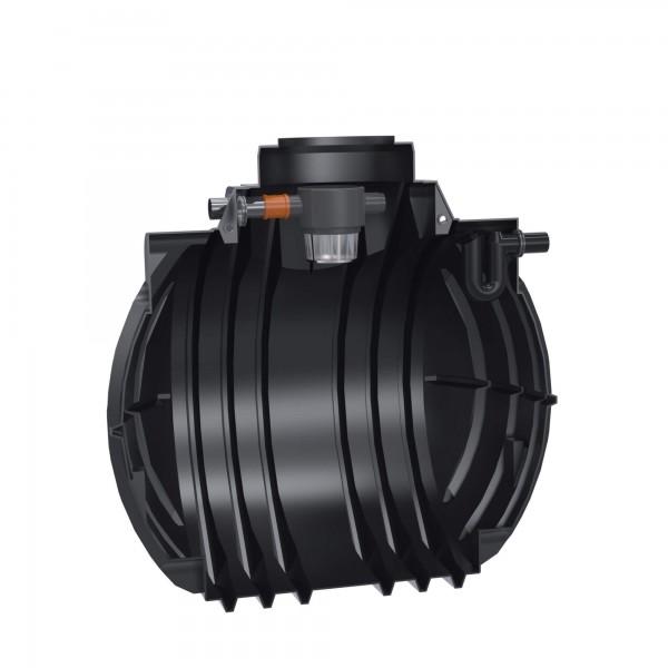Premium Regenwassertank Atlantis 5300 L mit Gartenfilter und Überlaufsiphon - anschlussfertig