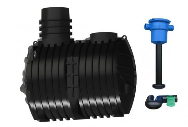 Regenwassertank 5000 L mit Hauswasserfilter zur Selbstmontage