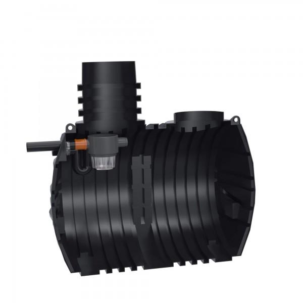 Regenwassertank Eco-Line 5000 L mit vorinstalliertem Gartenfilter und Siphon - anschlussfertig