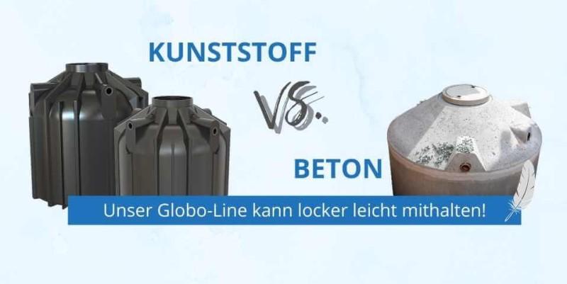 Kunststoff gegen Beton Zisterne