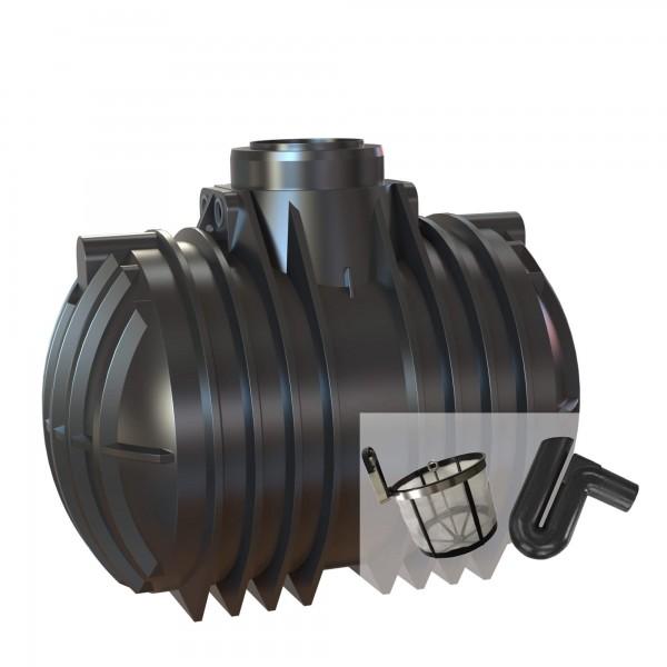 Gartenanlage 7000 Liter mit Basic-Filterset + Überlaufsiphon ohne Abdeckung und ohne Pumpe