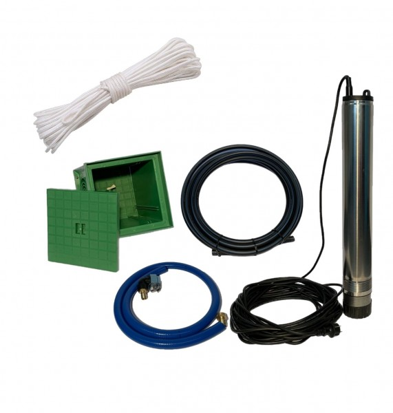 Gartentauchpumpe Automatik inklusive Anschlussset zur Wasserentnahme