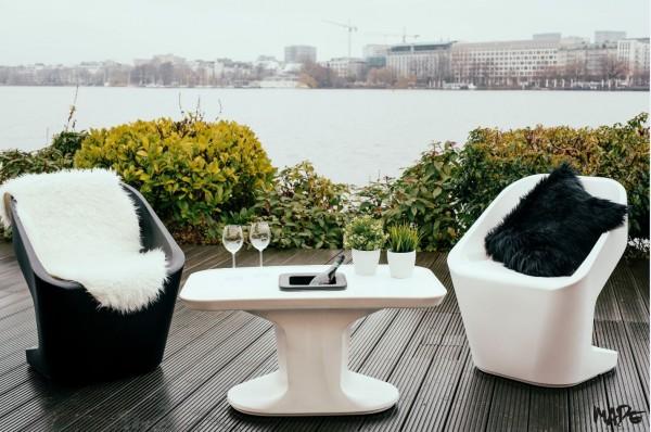 Outdoor Loungegruppe als Kunststoff