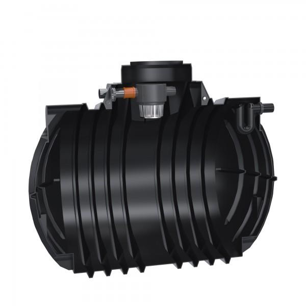 Premium Regenwassertank Atlantis 7000 L mit Gartenfilter und Überlaufsiphon - anschlussfertig
