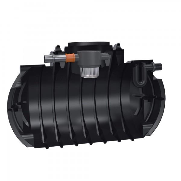 Premium Regenwassertank Atlantis 2200 L mit Gartenfilter und Überlaufsiphon - anschlussfertig