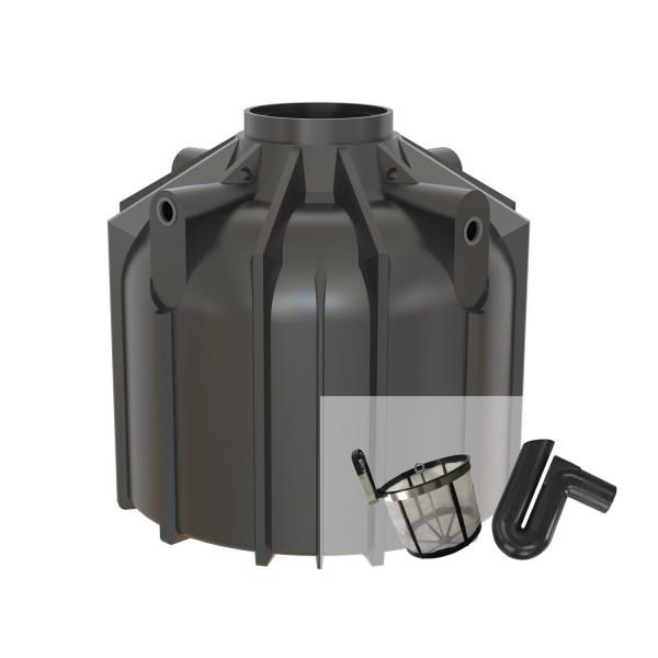 Regenwassertank Set Globo-Line XL 6400 Liter mit Filterset zur Selbstmontage