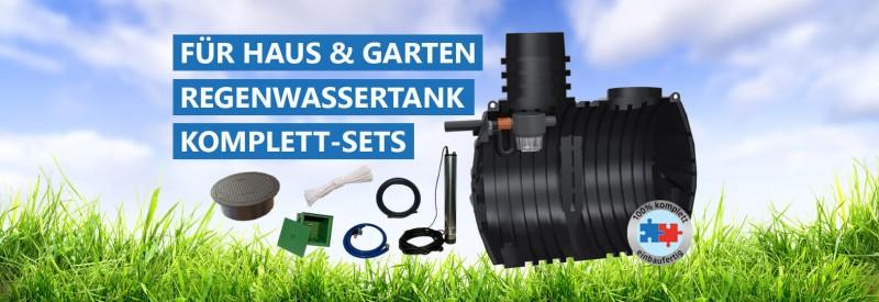 Wählen Sie für Haus & Garten Ihr Regenwassertank Komplett-Set