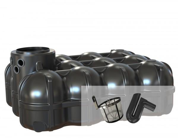 Gartenzisterne Flachtank 5000 L mit Filterset Basic