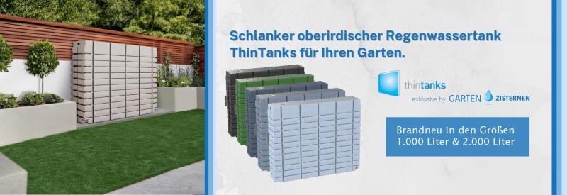Oberirdischer Regenwassertank ThinTanks - jetzt vorbestellen