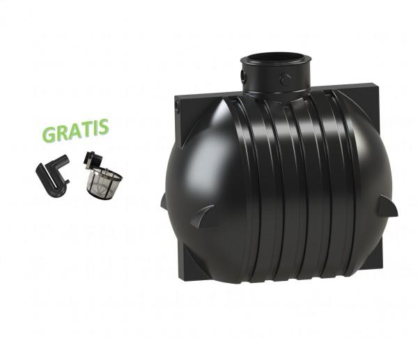 Gartenzisterne Ozeanis 6000 Liter inklusive 2 Anschlüsse und Lippendichtungen mit GRATIS Filterset